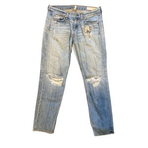 Rag and Bone boyfriend distressed jeans